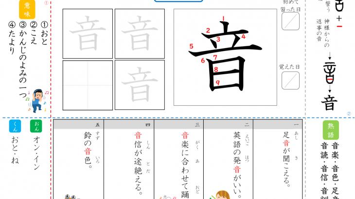 漢字ドリル,漢字プリント,成立ち音