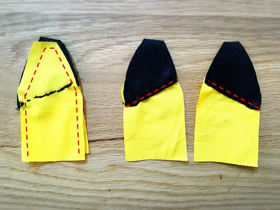 ピカチュウ,巾着袋,コップ袋,作り方